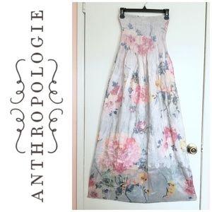 Lapis Anthropologie floral maxi dress (OS)